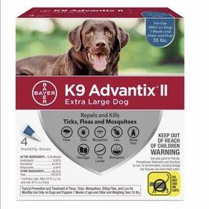 NEW Bayer K9 Advantix II Flea and Tick Control
